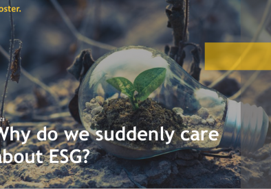 Why do we suddenly care about ESG?